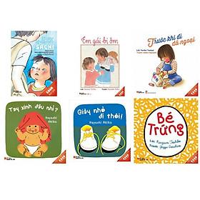 Combo truyện ehon Nhật Bản được yêu thích  gần đây cho các bé : Bàn tay kì diệu của Sachi + Em gái  bị ốm + Trước khi đi dã ngoại + Tay xinh đâu nhỉ  + Giày nhỏ đi thôi +  Bé trứng