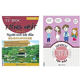 Combo tự học tiếng nhật Joyful Japanese - Tiếng Nhật vui nhộn - Tập Viết và  Tự Học Tiếng Nhật Dành Cho Người Mới Bắt Đầu tặng sổ tay như hình