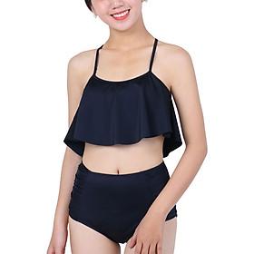 Bikini 2 Mảnh Monica Áo Bậc Thang Đen Quần Đen BIT 3017 - Đen (Free Size)