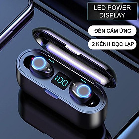 Tai nghe bluetooth không dây F9 True wireless Dock Sạc có Led Power Dislay - HÀNG CHÍNH HÃNG SINO