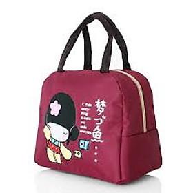 Túi giữ nhiệt đựng cơm văn phòng, trái cây, bình nước...22 x 19 x 13 cm, nhiều màu, giao màu ngẫu nhiên+ Tặng quà hình dán ngẫu nhiên