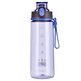 Lock&Lock  Plastic Cup/Water Cup/Sports Cup One-click opening, clear and anti-fall, large capacity 630ml HLC646VOL three colors optional