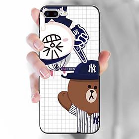 Ốp lưng dành cho iPhone 7 Plus / 8 Plus  mẫu Thỏ chỉ tay Gấu