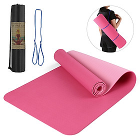 72.05×24.01in Portable Double Dual-colored Yoga Mat Thicken Sports Mat Anti-slip Exercise Mat for Fitness Workouts with