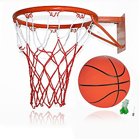 Bộ vành bóng rổ + Quả bóng rổ cao cấp (Kèm lưới và kim bơm bóng)