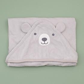 khăn chăn màu xám gấu cho bé