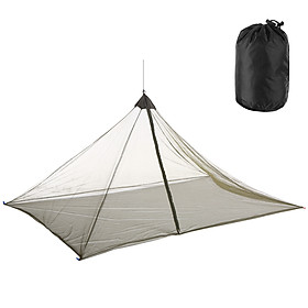 Camping Net Outdoor Zipper Netting Single Person Outdoors Tent Nets with Carry Bag For Backpacking Hiking Camping