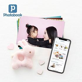 """Voucher dịch vụ 200 tấm ảnh 4"""" x 6"""" (10x15cm) giấy bóng/ giấy mờ theo yêu cầu - Tự thiết kế trên ứng dụng Photobook"""