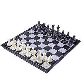 Portable Folding Magnetic Travel Classic Chess Set Checkers Backgammon Set Vacation 250 * 250 Board Competition