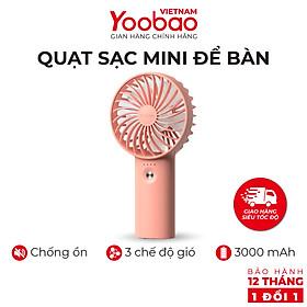 Quạt sạc mini để bàn làm việc YOOBAO F3 6000/3000mAh - Có thể chạy 32 giờ - Hàng chính hãng Bảo hành 12 tháng 1 đổi 1