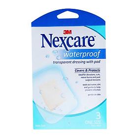 Băng dán bảo vệ vết thương chống thấm nước có gạc 3M Nexcare B100 80X100RMM 3miếng/hộp