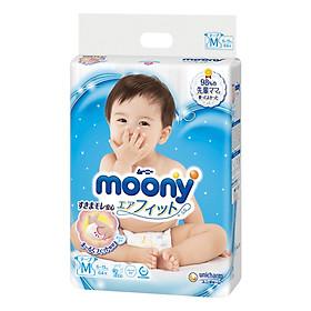 Bỉm - Tã dán Moony Blue size M 64 miếng (Cho bé 6~11kg)