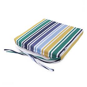 Nệm ngồi Soft Decor 505 Ink Stripe Pattern 50x50x5cm (Xanh Đậm)