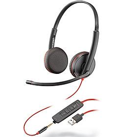 Biểu đồ lịch sử biến động giá bán Tai nghe chụp tai có dây tích hợp Mico khử tiếng ồn Plantronics Blackwire C3225 USB-A - Hàng chính hãng