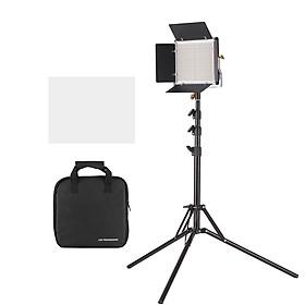 Bộ Bảng Đèn LED CRI 85+ Andoer (660 Led) (3200-5600K) + Chân Đế Có Thể Điều Chỉnh (78.7 inch) + Giá Đỡ Chữ U + Barndoor Cho Studio Chụp Ảnh