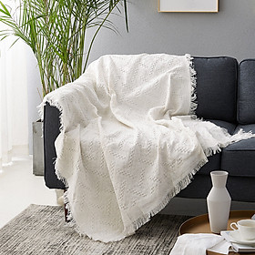 90X90cm White T Type Home Decoration Sofa Blanket Practical Creative Rug Style Tapestry Sofa Bed Home Decoration Blanket