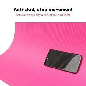 Thickened Yoga Mat Multi-functional Non-slip Yoga Mats 1830mm*610mm*10mm Grey-2