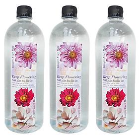 Combo 03 Chai Nước cắm hoa lâu tàn Keep Flowering (1000ml/chai)