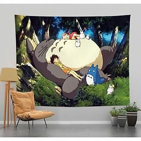 [Tặng kèm Đèn led + móc treo] Thảm treo tường trang trí phòng ngủ - Tranh vải decor vintage Kích thước 150x130 cm, 100x70cm