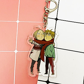 ( Mica trong acrylic ) Móc khóa 19 Days couple chibi anime