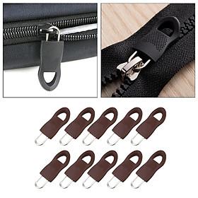 10Pcs Detachable Zip Fixer Zipper Tags Repair Pull Tab Black 3.4x1.4cm