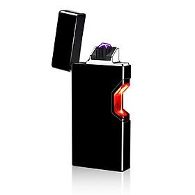 Hộp Quẹt Bật Lửa Hồng Ngoại Cảm Ứng Sạc Điện USB 875 Màu Đen Cao Cấp