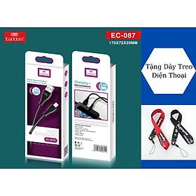 Dây Cáp Sạc Micro-USB EC-087 1 Mét, SIÊU BỀN Cho Android, Samsung, Xiaomi, Oppo,... Hàng Chính Hãng