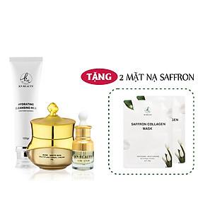 Bộ 3 sản phẩm Trắng Da Ngừa mụn KN Beauty chuyên sâu: Kem dưỡng 25g + Serum 30ml + Sữa rửa mặt 100gr  (Tặng 2 Mặt Nạ)