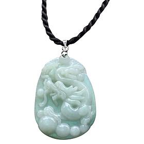 Mặt Dây Chuyền Cẩm Thạch Chạm Rồng Ngọc Quý Gemstones MD42 (4.5 x 3.2 cm)