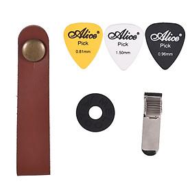 Bộ Phụ Kiên Guitar Gồm 1 Dây Đeo Cổ + Dây Đeo Có Khóa + Kẹp Giữ Pick + 3 Pick