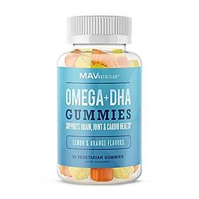 MAV Nutrition Fish Oil Omega 3 Gummies with Vitamin C for Immune Support, Brain, Joint & Cardiovascular Health, Natural Flavors, 60 Vegetarian Friendly Gummies