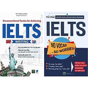 Sách - Combo Unconventional Tactics for Achieving IELTS WRITING + Ielts No vocab - No Worries - 1980Books