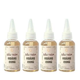 Combo 4 chai Dầu tràm cho bé - dầu tràm Hoàng Cung 50ml/ chai (chai nhựa)