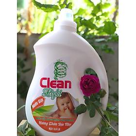 Nước giặt xả hữu cơ dịu nhẹ Clean Light 3,6 lít