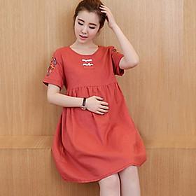 Đầm Bầu Công sở - Váy Bầu Thêu Hoa (ZD 62)