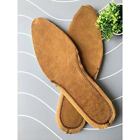 Một cặp lót giày nam da bò êm chân thoáng khí dùng cho mọi loại  giày- LD021
