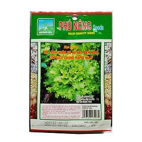 Hạt giống xà lách xoăn sư tử hạt đen No.8 Phú Nông (5g/gói) | Lettuce grand rapid No.08