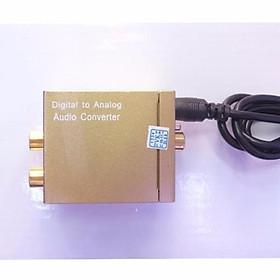 Bộ chuyển đổi optical to AV + 3.5mm xi vàng tặng dây optical và dây nguồn