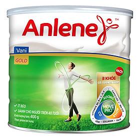 Sữa Bột Anlene Gold Movepro Hương Vanilla (Hộp Thiếc 400g)