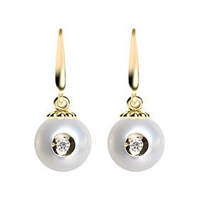 Bông Tai Galatea Jewelry Diamond In A Pearl 2036.04YW - Trắng