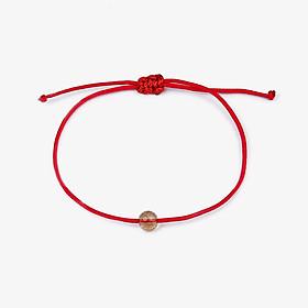 VT112 Vòng tay Senyda dây đỏ phối Thạch anh tóc size đá 5mm màu đá ngẫu nhiên