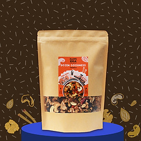Ngũ cốc 12 loại hạt trái 400g (đặc biệt 2 loại óc chó) Không Đường Tinh Luyện - Dozen Goodness HAPPI OHA - Ngũ Cốc Yến Mạch Nguyên Hạt Ăn Kiêng/Ăn Sáng