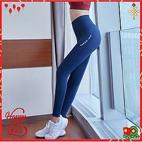Quần legging nữ CLEACCO  tập gym, quần yoga chất vải Dệt thoáng mát , co giãn 4 chiều