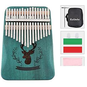 Đàn kalimba 17 phím MUSPOR -M17523 Tặng túi bảo vệ đàn , stick màu, búa chỉnh âm ,khăn lau đàn âm vang phím chuẩn