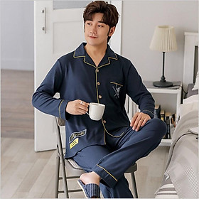 Đồ bộ Pijama-Đồ ngủ nam cao cấp phong cách Hàn Quốc, chất COTTON 100 dày dặn & thoáng khí (711)
