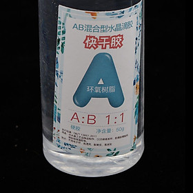 2 bottles AB clear crystal epoxy resin glue 100g for DIY Crafts