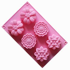 Khuôn silicon hình bông hoa - Khuôn 6 cái
