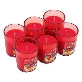 Hộp 6 Ly Nến Thơm Votives Hương Quả Lựu Miss Candle FtraMart NQM0413 (Đỏ)