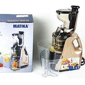 Máy Ép Chậm hoa quả giữ nguyên chất Matika-3239 với Công Nghệ Ép Thông Minh, dung tích cối 1000ml, màu ngẫu nhiên-hàng chính hãng