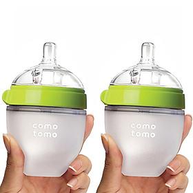 Fullbox Hộp 2 Bình Sữa Comotomo 150ml Xanh